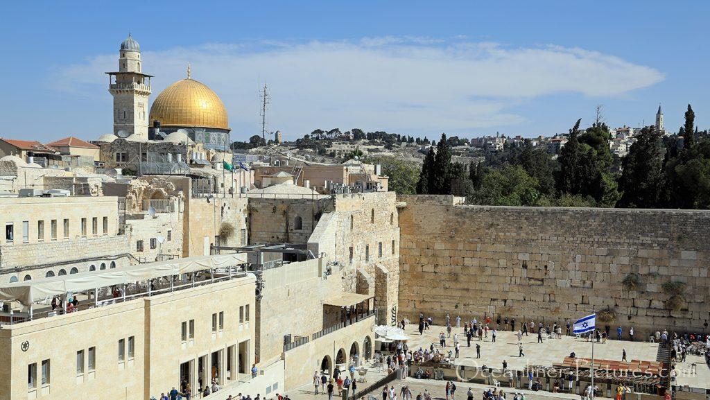 Blick auf Klagemauer und Felsendom in Jerusalem / Foto: Oliver Asmussen/oceanliner-pictures.com