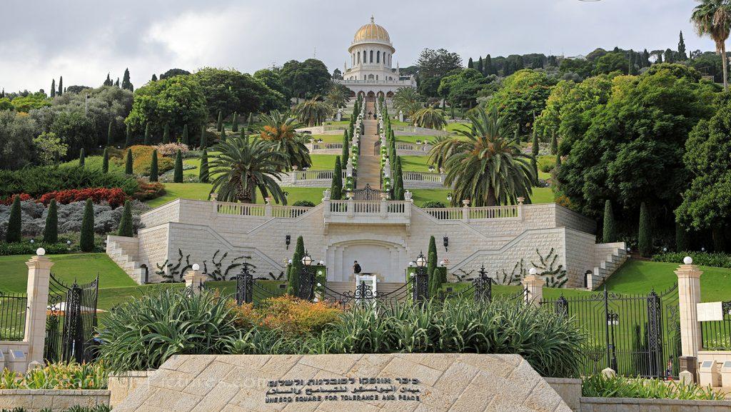 Blick auf die Bahai Gardens in Haifa vom unteren Ende aus / Foto: Oliver Asmussen/oceanliner-pictures.com