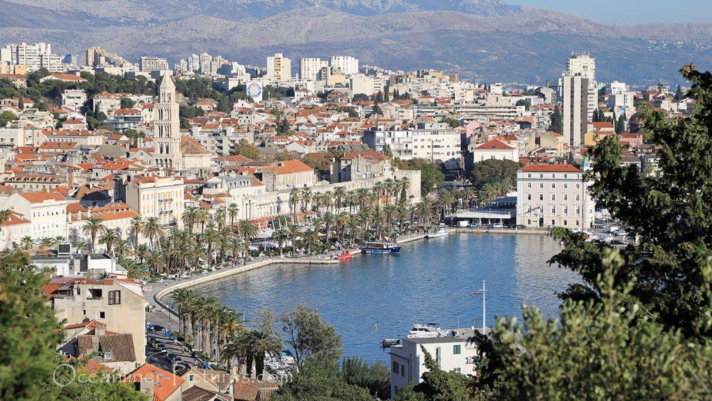 Die Aussicht vom Marjan über Split / Foto: Oliver Asmussen/oceanliner-pictures.com
