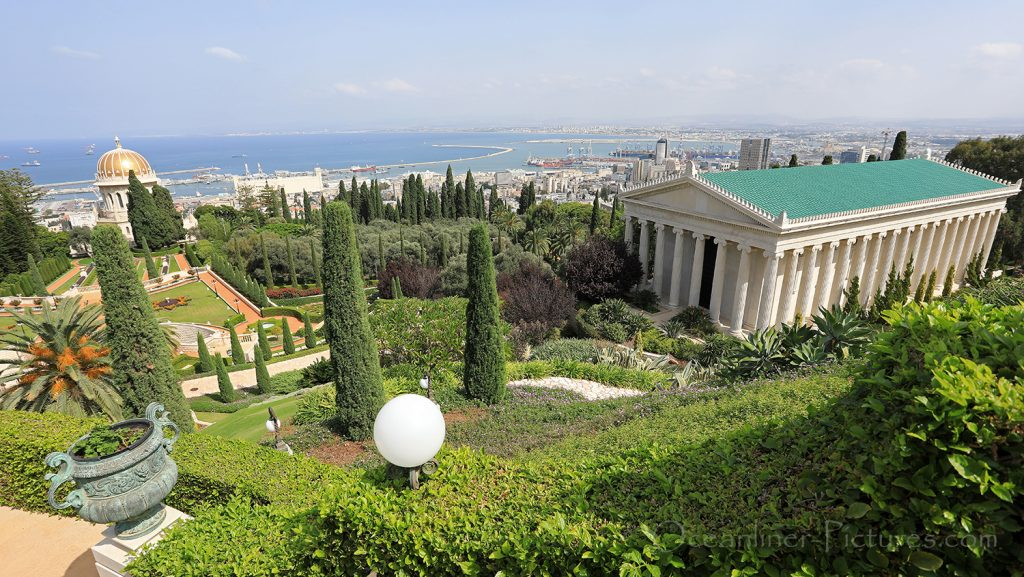 Internationales Archiv und Shrine of the Bab, Bahai Gardens Haifa / Foto: Oliver Asmussen/oceanliner-pictures.com