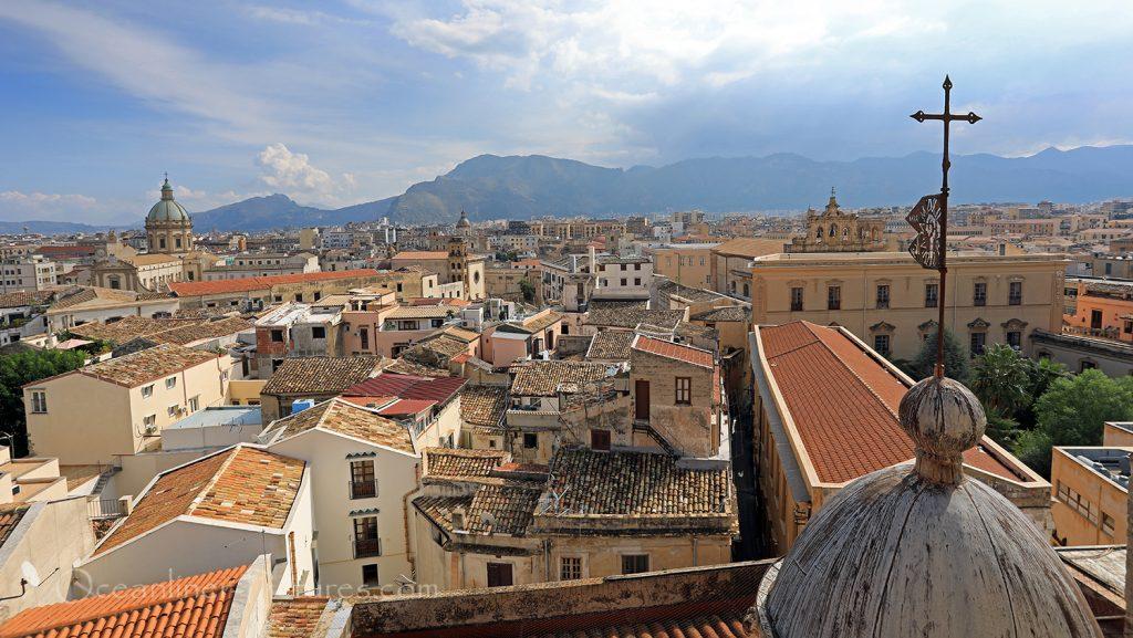 Palermo Panoramablick von Chiesa del Santissimo Salvatore / Foto: Oliver Asmussen/oceanliner-pictures.com
