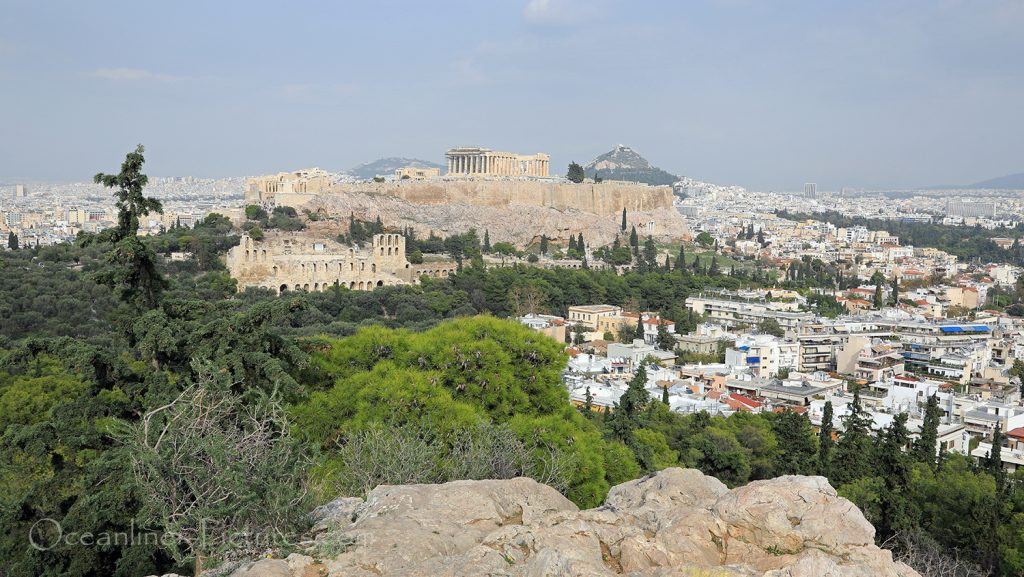 Panoramablick auf Akropolis und Athen vom Philopapposhügel / Foto: Oliver Asmussen/oceanliner-pictures.com