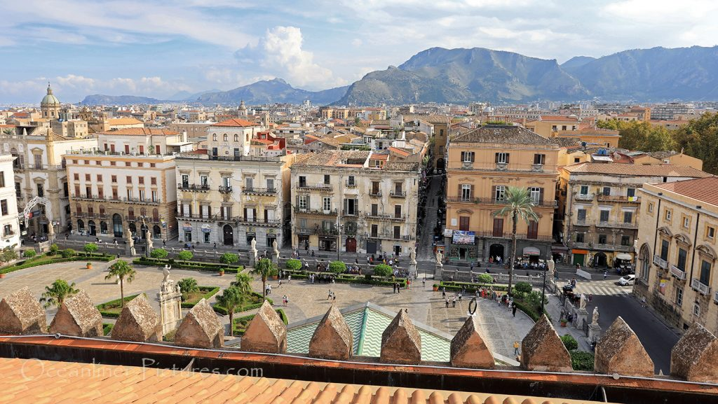 Panoramablick vom Dach der Kathedrale in Palermo / Foto: Oliver Asmussen/oceanliner-pictures.com