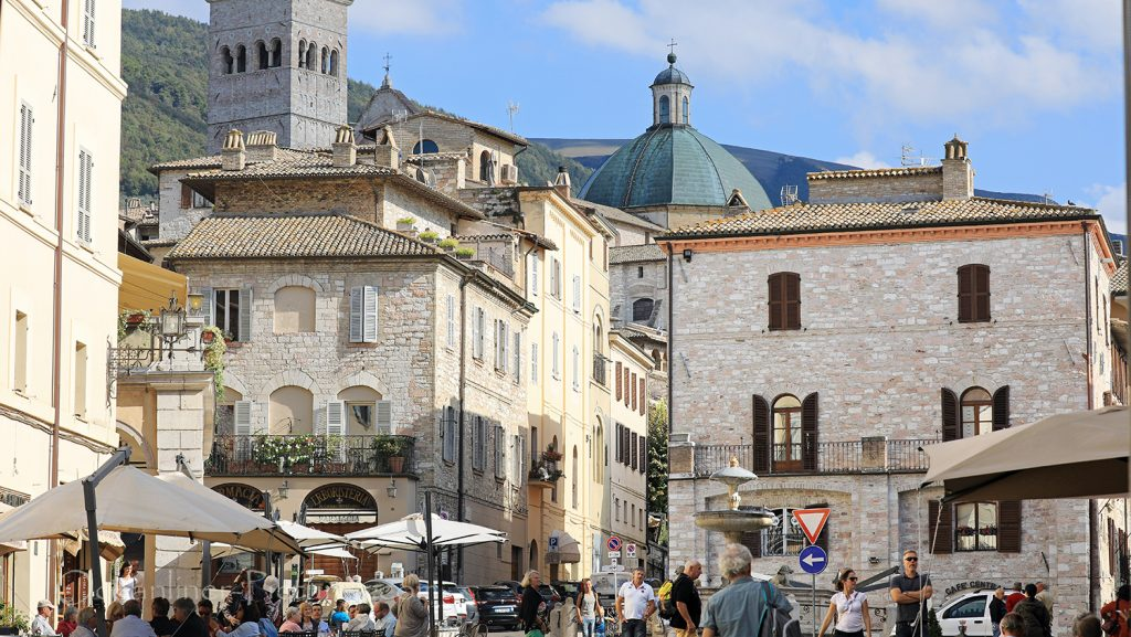 Piazza del Comune in Assisi / Foto: Oliver Asmussen/oceanliner-pictures.com