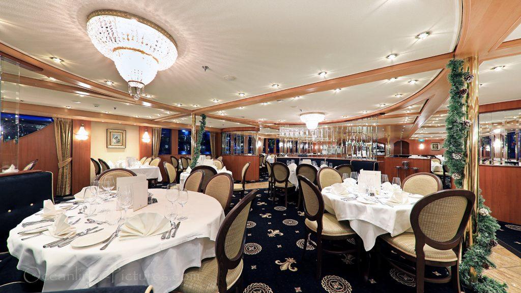 Restaurant MS Swiss Tiara Teilansicht / Foto: Oliver Asmussen/oceanliner-pictures.com
