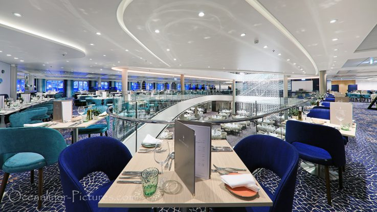 Atlantik Restaurant Mediterran neue Mein Schiff 2 / Foto: Oliver Asmussen/oceanliner-pictures.com