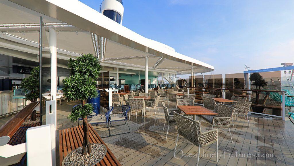 Aussenalster Bar und Grill neue Mein Schiff 2 / Foto: Oliver Asmussen/oceanliner-pictures.com