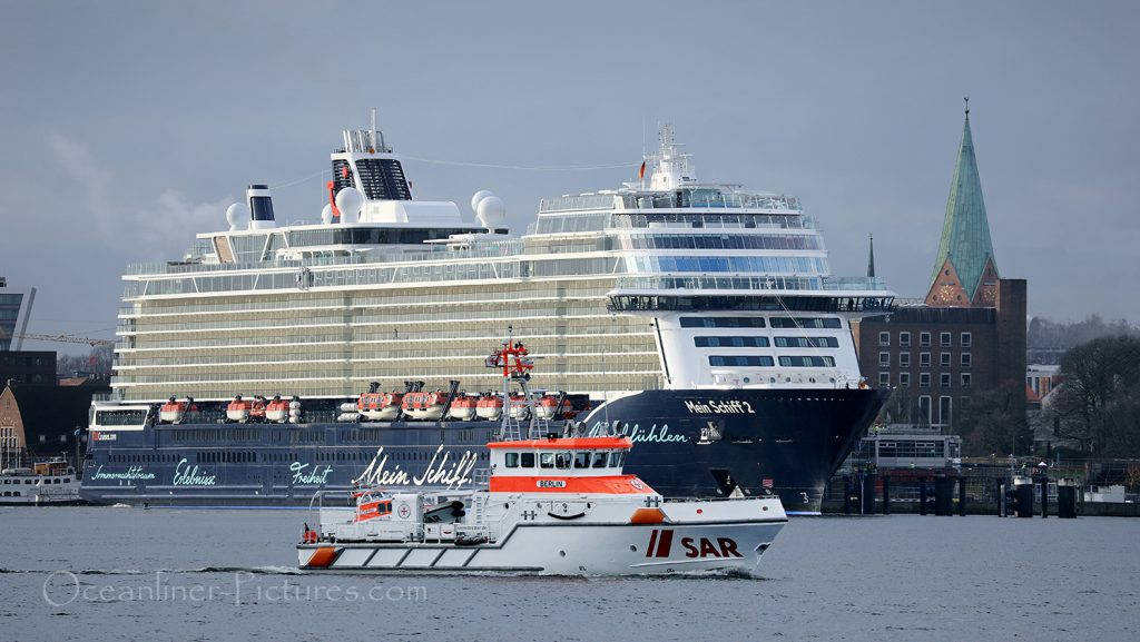 Die neue Mein Schiff 2 in Kiel / Foto: Oliver Asmussen/oceanliner-pictures.com
