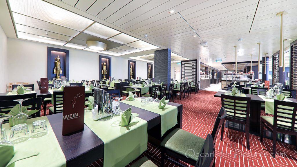 East Restaurant AIDAnova / Foto: Oliver Asmussen/oceanliner-pictures.com