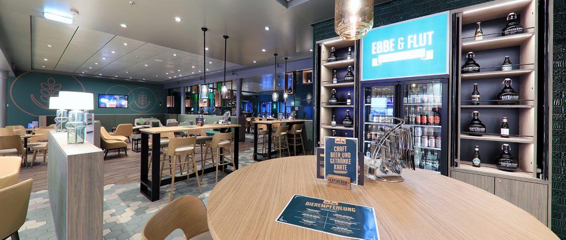 Ebbe und Flut Bier Bar neue Mein Schiff 2 / Foto: Oliver Asmussen/oceanliner-pictures.com