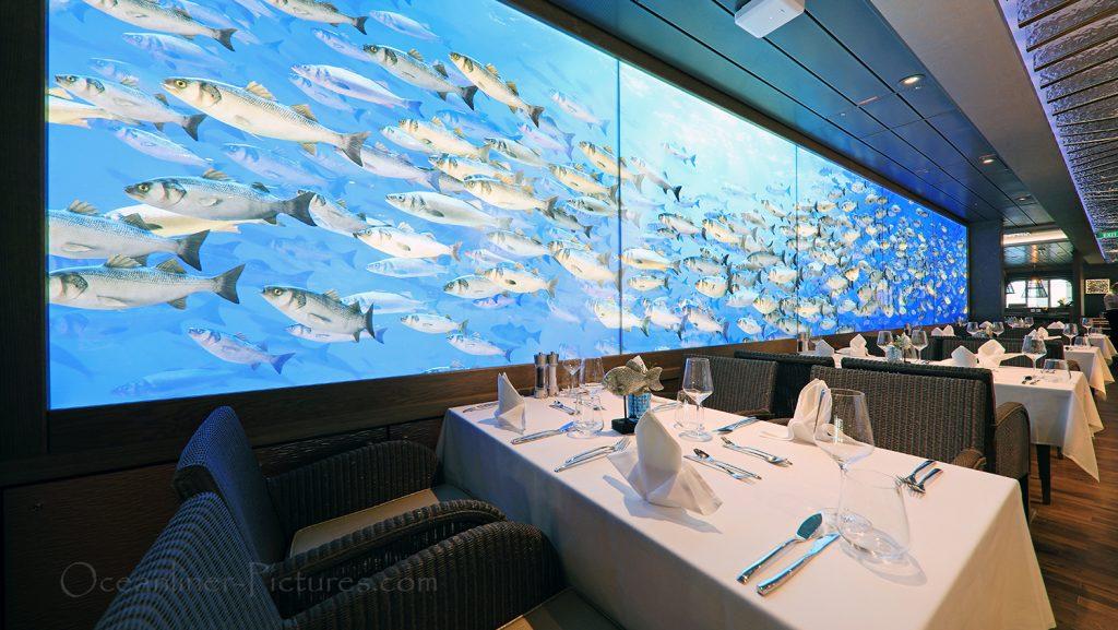 Oceans das Fischrestaurant AIDAnova / Foto: Oliver Asmussen/oceanliner-pictures.com