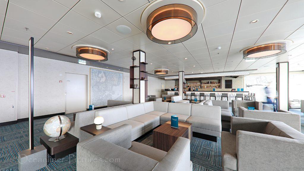 Ruhepol Bar und Lounge neue Mein Schiff 2 / Foto: Oliver Asmussen/oceanliner-pictures.com