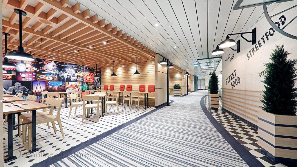 Street Food Restaurants AIDAnova / Foto: Oliver Asmussen/oceanliner-pictures.com