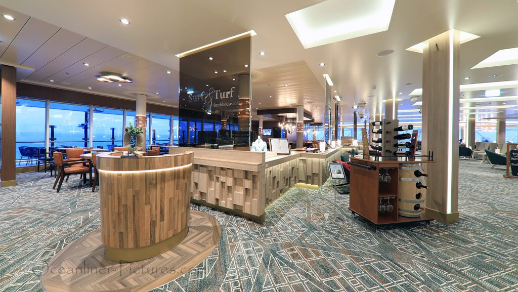 Surf and Turf Steakhouse neue Mein Schiff 2 / Foto: Oliver Asmussen/oceanliner-pictures.com