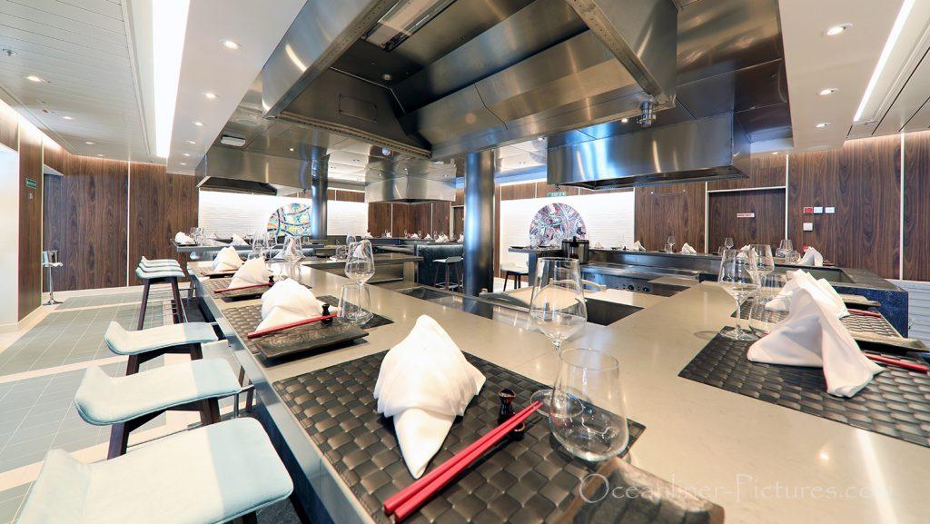 Teppanyaki Asia Grill Restaurant AIDAnova / Foto: Oliver Asmussen/oceanliner-pictures.com