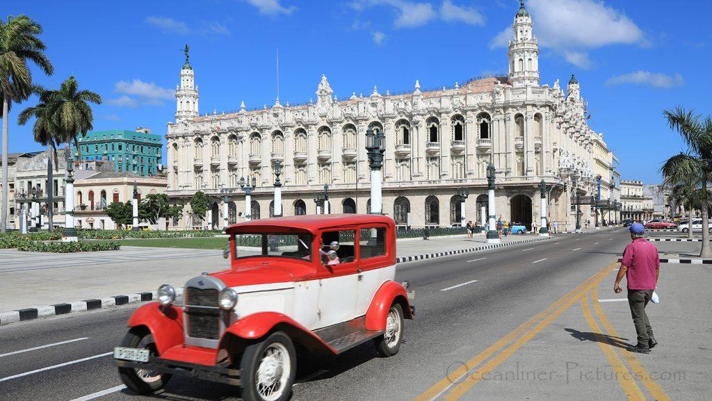 Blick auf Gran Teatro de La Habana in Havanna / Foto: Oliver Asmussen/oceanliner-pictures.com