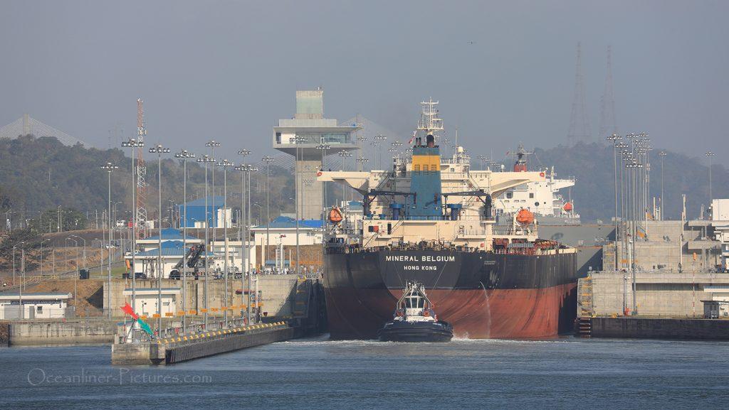 Blick auf neue Schleusen Panamakanal Balboa / Foto: Oliver Asmussen/oceanliner-pictures.com