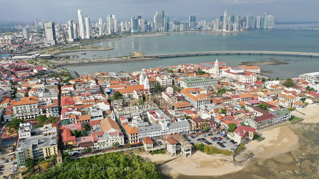 Panama Altstadt Casco Viejo und Panama City Neustadt / Foto: Oliver Asmussen/oceanliner-pictures.com