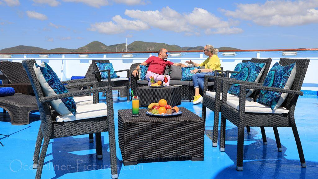 MS Ocean Majesty auf Loungedeck 9 / Foto: Oliver Asmussen/oceanliner-pictures.com
