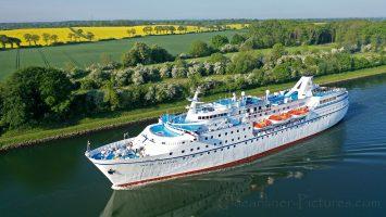 MS Ocean Majesty im Mai 2019 auf dem Nord-Ostsee-Kanal / Foto: Oliver Asmussen/oceanliner-pictures.com