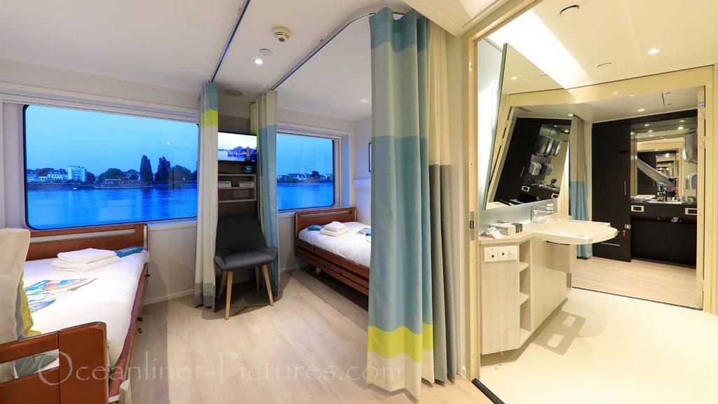 Kabine 219 Bad- und Wohnbereich MS Viola / Foto: Oliver Asmussen/oceanliner-pictures.com