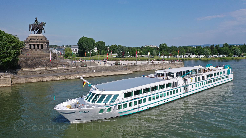 MS Viola auf dem Rhein vor Koblenz / Foto: Oliver Asmussen/oceanliner-pictures.com