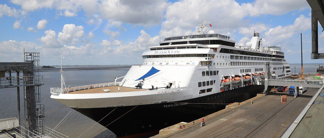 Vasco Da Gama am Columbus Cruise Center Bremerhaven / Foto: Oliver Asmussen/oceanliner-pictures.com
