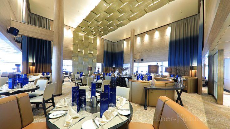 Waterfront Restaurant mit Gala-Karten Vasco Da Gama / Foto: Oliver Asmussen/oceanliner-pictures.com