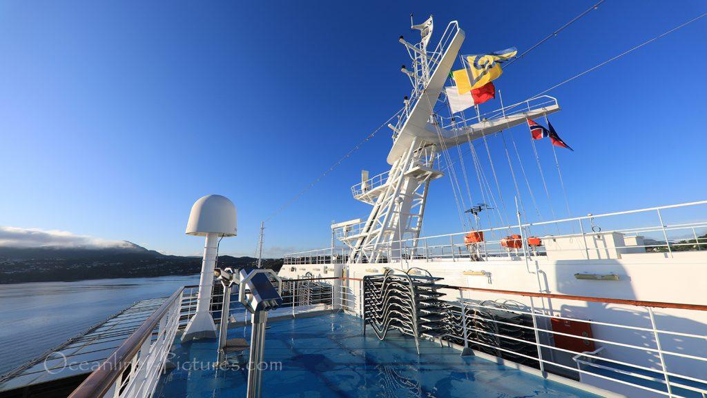 Aussichtspodest auf Sonnendeck 14 der Costa Favolosa / Foto: Oliver Asmussen/oceanliner-pictures.com