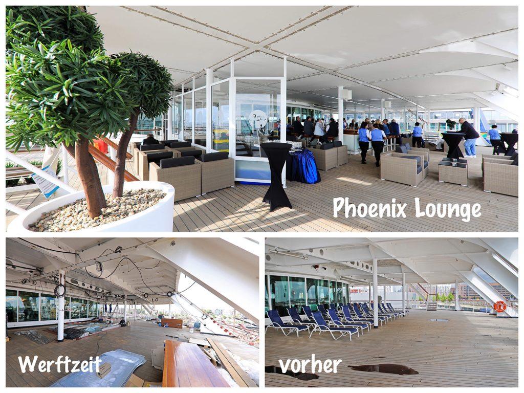 Bild 16 leeres Deck wird Phoenix Lounge Amera / Foto: Oliver Asmussen/oceanliner-pictures.com