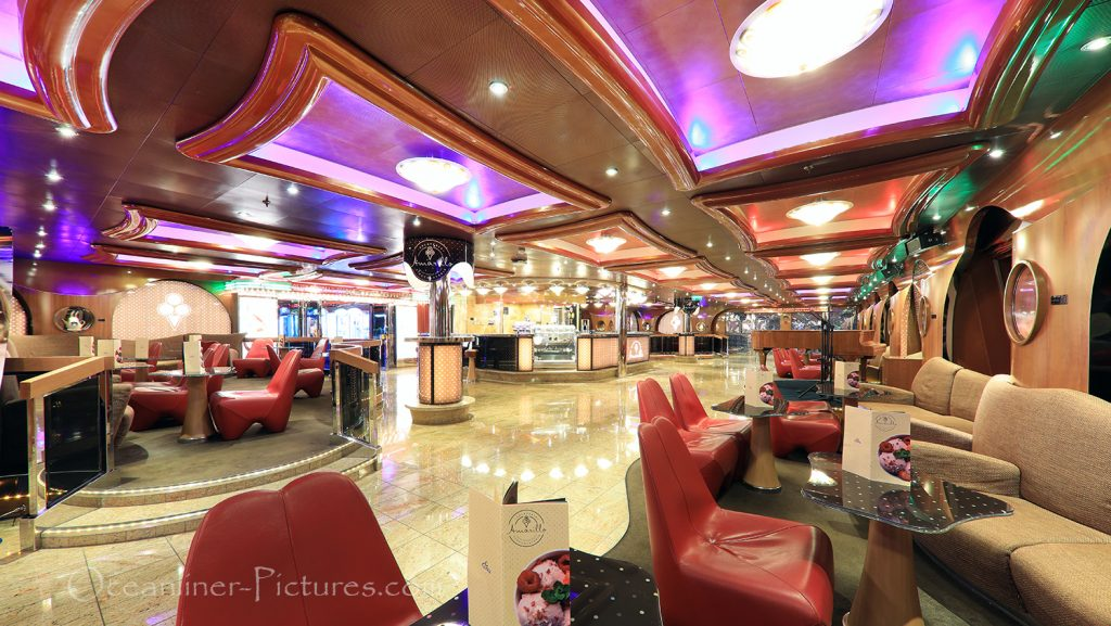 Gelateria Amarillo Costa Favolosa / Foto: Oliver Asmussen/oceanliner-pictures.com