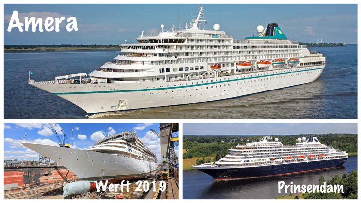 MS Prinsendam, Werftzeit und MS Amera / Foto: Oliver Asmussen/oceanliner-pictures.com