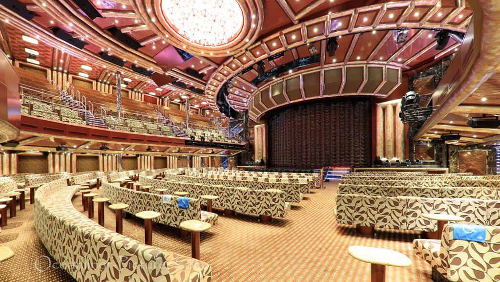 Teatro Hortensia untere Ebene Costa Favolosa / Foto: Oliver Asmussen/oceanliner-pictures.com