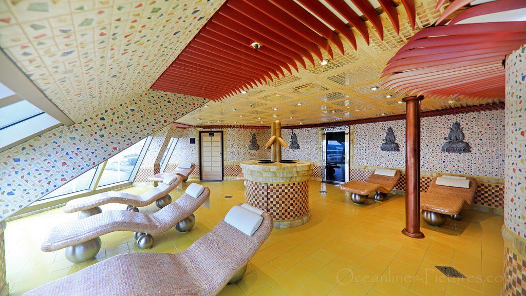 Tepidarium Samsara Spa Costa Favolosa / Foto: Oliver Asmussen/oceanliner-pictures.com