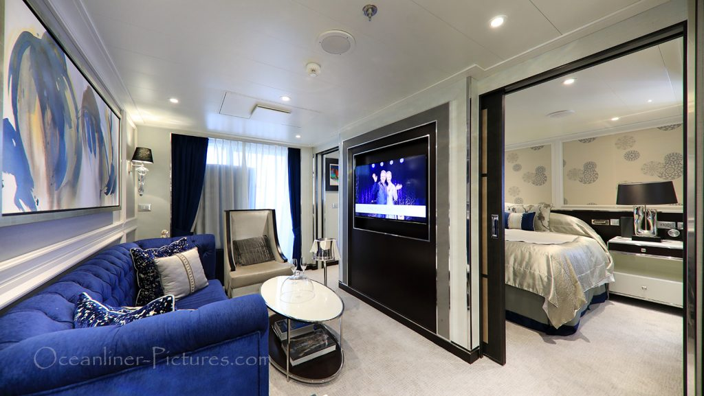 Suite 7000 outside view Seven Seas Explorer / Foto: Oliver Asmussen/oceanliner-pictures.com