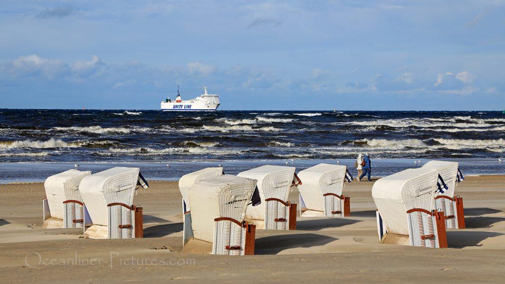 Swinemünde Strand mit Strandkörben / Foto: Oliver Asmussen/oceanliner-pictures.com