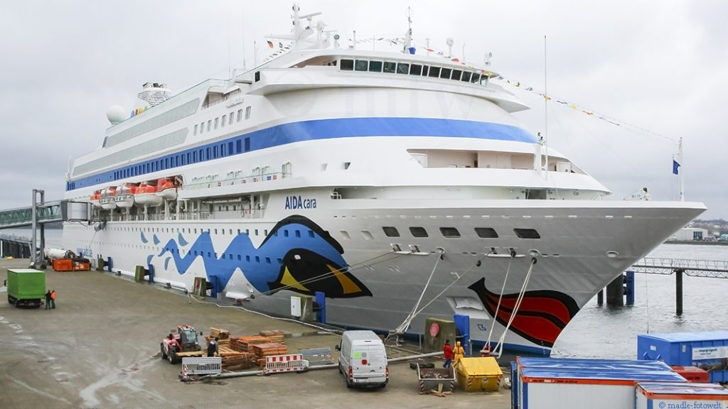 AIDA Cara im Terminal Kiel, Foto: madle-fotowelt