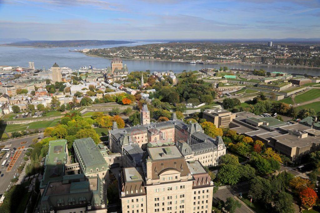 Ausblick vom Observatoire de la Capitale Quebec aus 221m / Foto: Oliver Asmussen/oceanliner-pictures.com