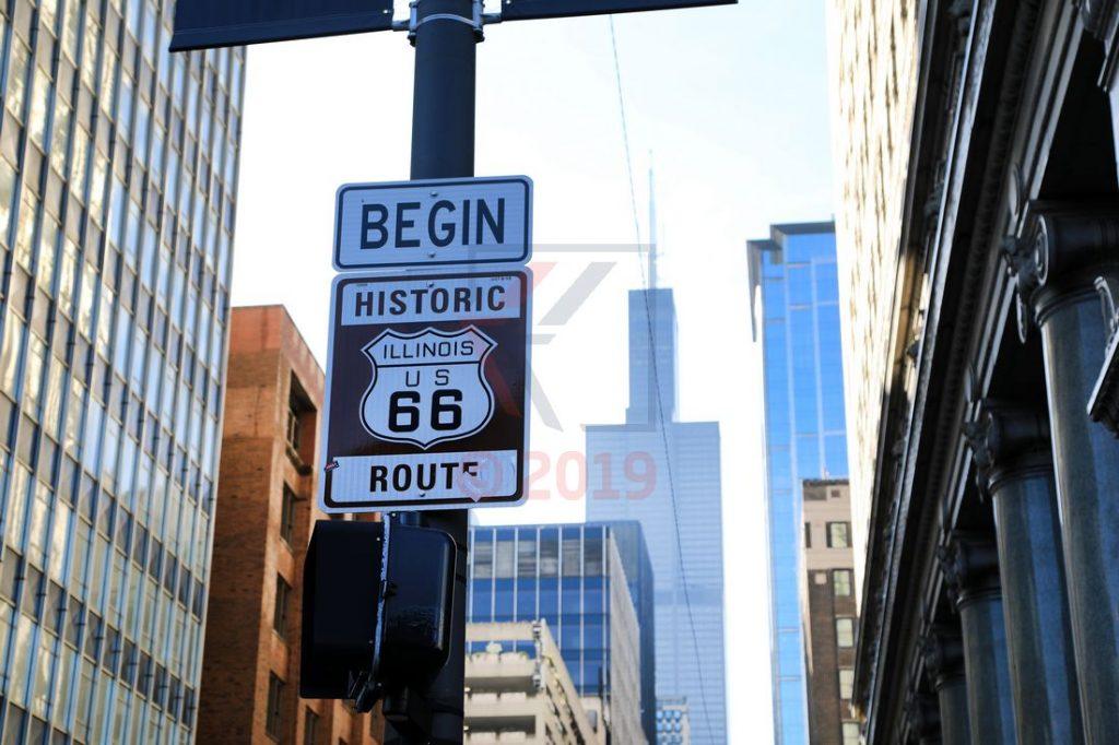 Begin Historic Route 66 Chicago / Foto: Oliver Asmussen/oceanliner-pictures.com
