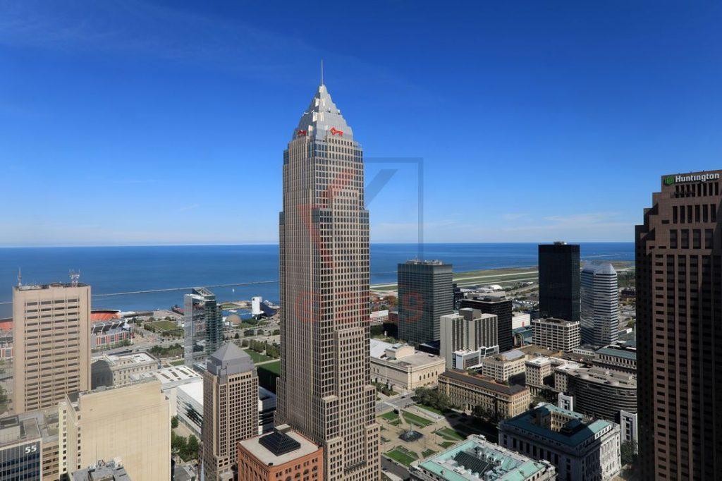 Blick vom Terminal Tower auf Cleveland und Eriesee / Foto: Oliver Asmussen/oceanliner-pictures.com