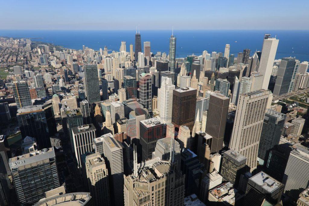 Blick vom Willis Tower Chicago aus 412m in der 103. Etage / Foto: Oliver Asmussen/oceanliner-pictures.com