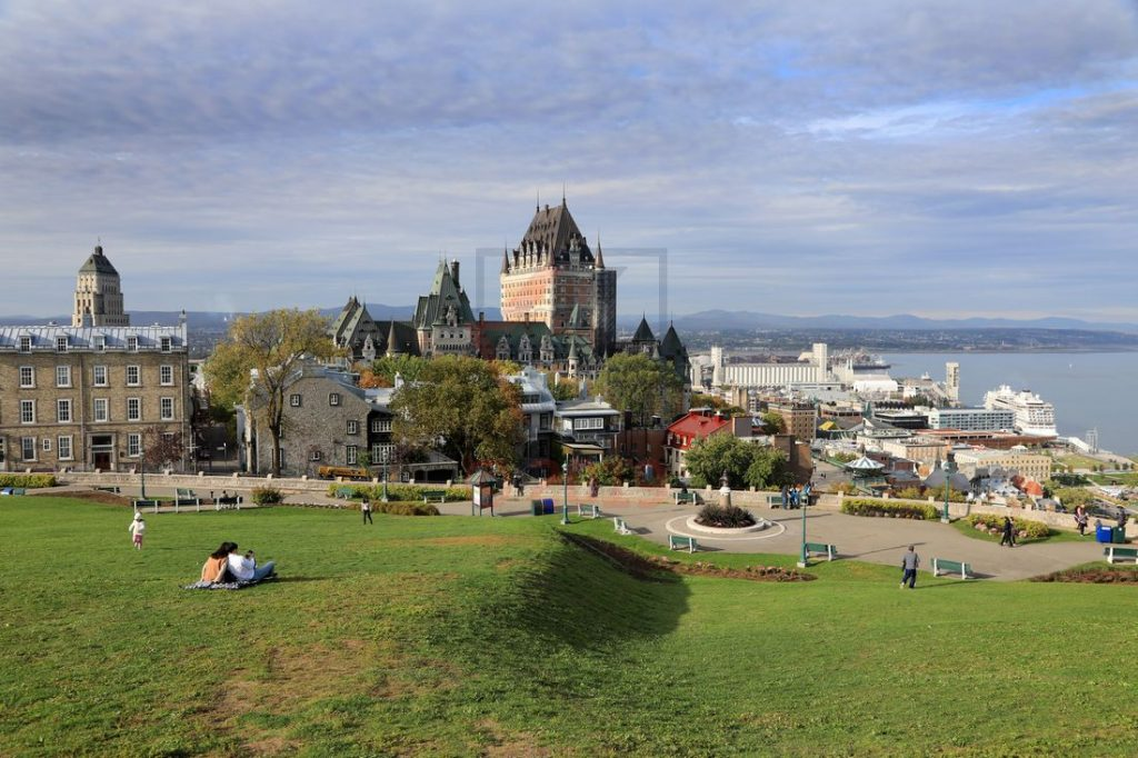 Chateau Frontenac Blick Richtung Terrasse Dufferin Quebec / Foto: Oliver Asmussen/oceanliner-pictures.com