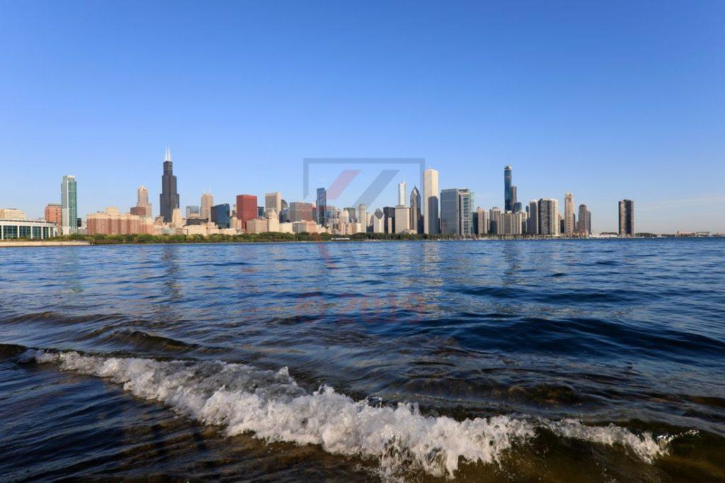 Chicago Skyline mit Lake Michigan / Foto: Oliver Asmussen/oceanliner-pictures.com