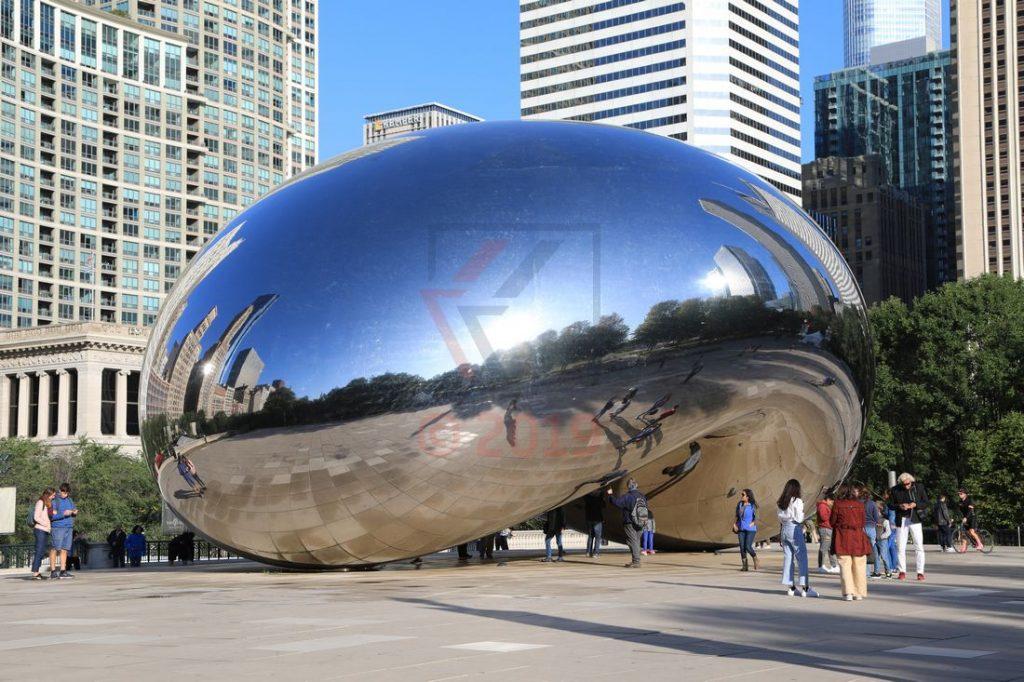 Cloud Gate Skulptur Chicago Millennium Park / Foto: Oliver Asmussen/oceanliner-pictures.com