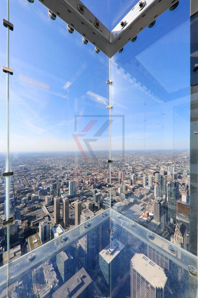 Glasbalkon Willis Tower Chicago in 412m Höhe / Foto: Oliver Asmussen/oceanliner-pictures.com