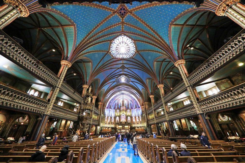 Innenansicht Basilika Notre-Dame de Montreal / Foto: Oliver Asmussen/oceanliner-pictures.com