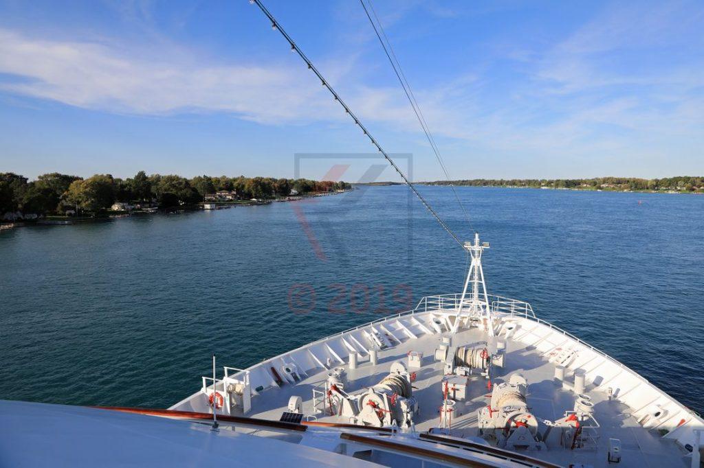 MS Hamburg Fahrt auf dem St. Clair River / Foto: Oliver Asmussen/oceanliner-pictures.com