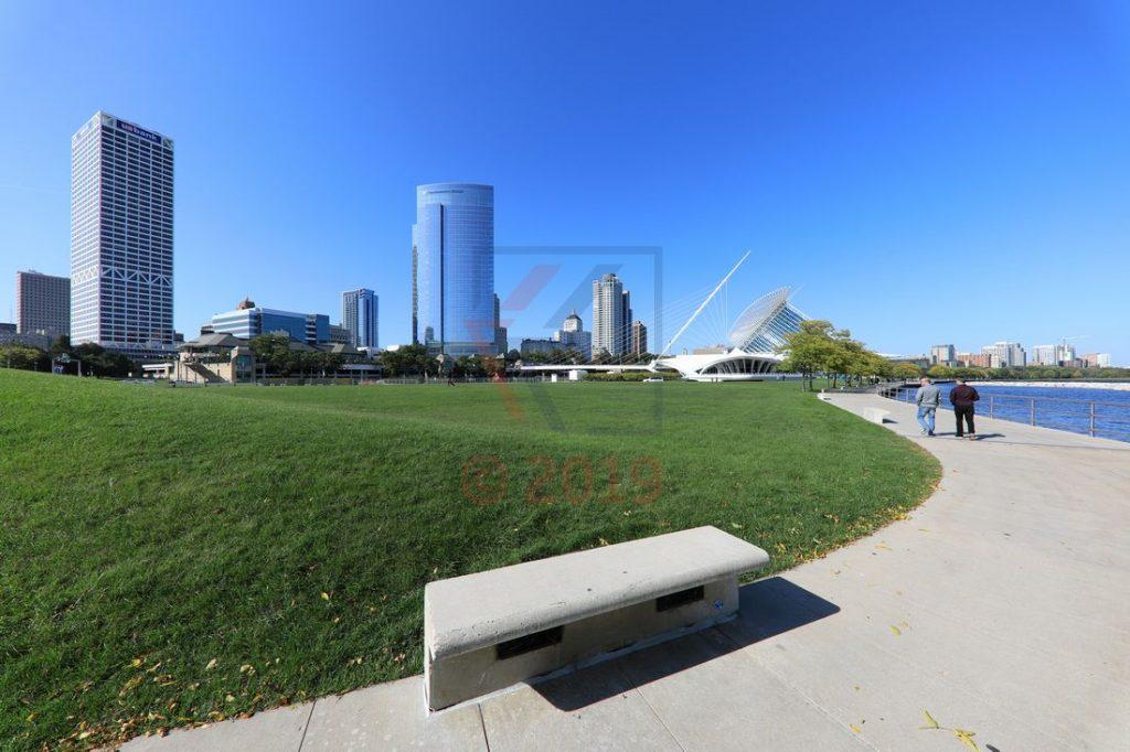 Milwaukee Art Museum, Waterfront und Skyline / Foto: Oliver Asmussen/oceanliner-pictures.com