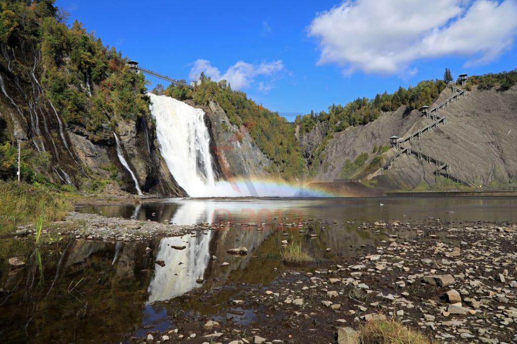 Montmorency Fall Quebec Canada Blick vom Flusstal / Foto: Oliver Asmussen/oceanliner-pictures.com