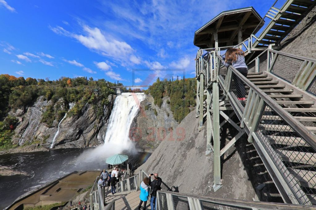 Montmorency Fall Quebec Canada mit Holztreppe / Foto: Oliver Asmussen/oceanliner-pictures.com